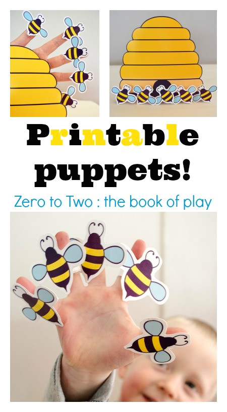 post bee finger puppet printable 279487