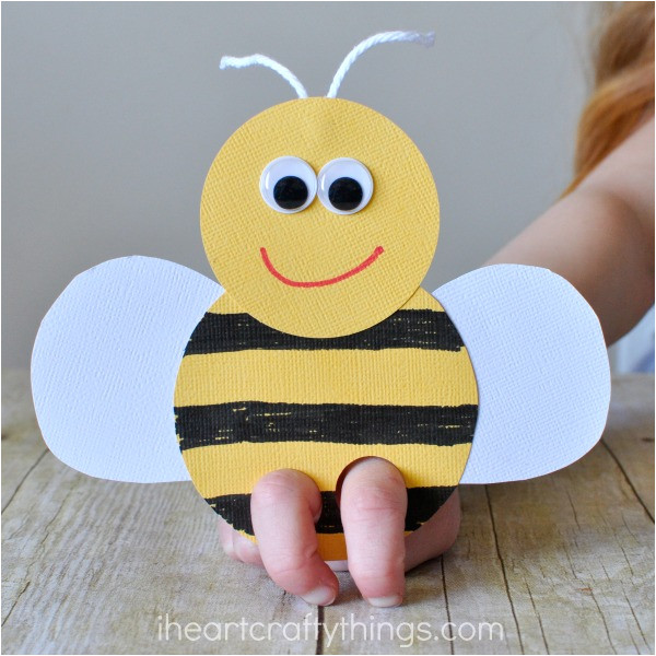 bee finger puppets craf