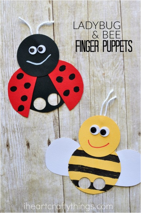 bee finger puppets craft