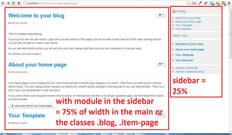 joomla template how can i auto hide a sidebar when there39s no module closed