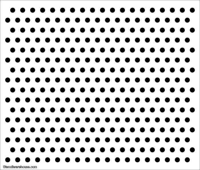 polka dot 25mm holes large stencil 6538