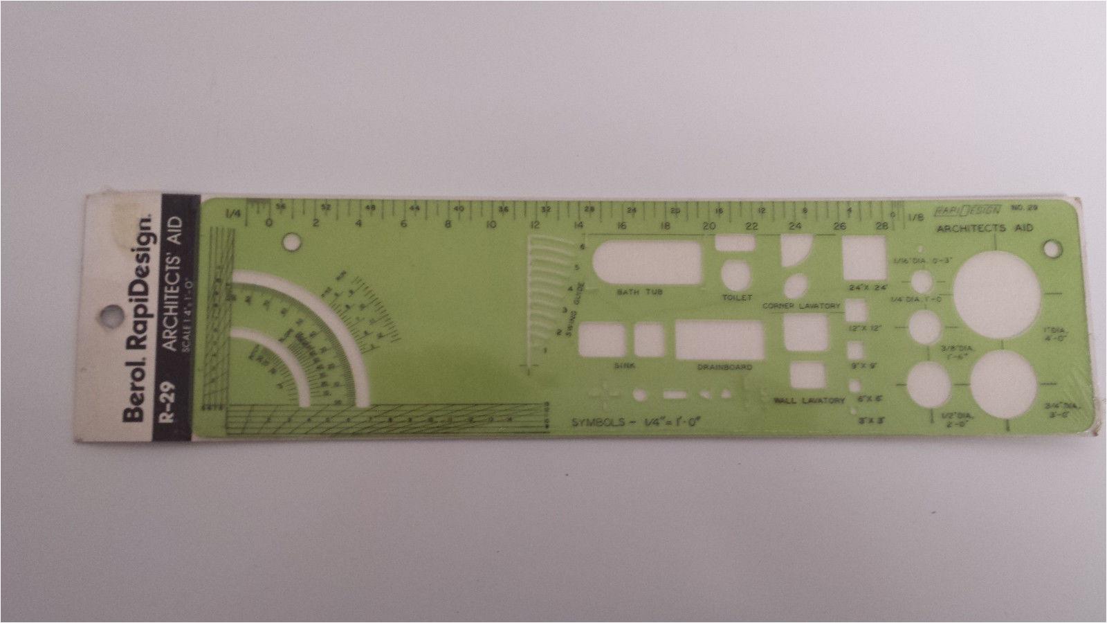Berol Rapidesign Templates Nos Berol Rapidesign Template R 29 Architects 39 Aid