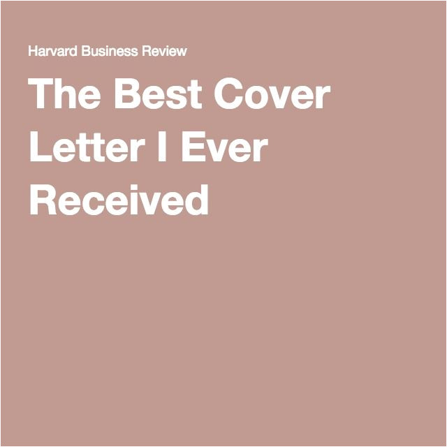 best cover letter