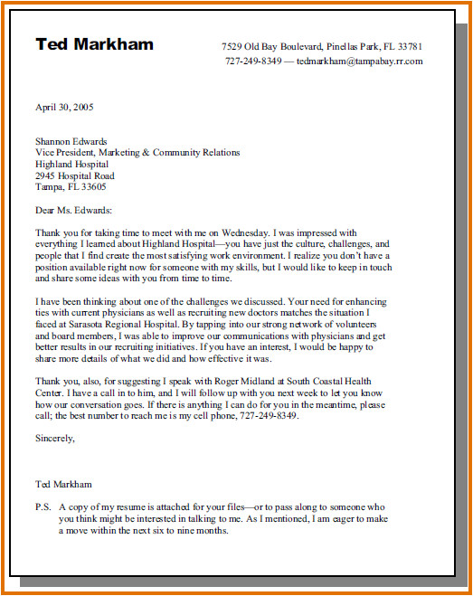 job interview cover letter