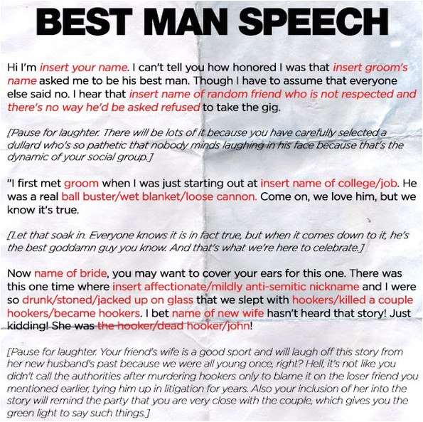Best Man Speech Templates Best Man Speech Template Sanjonmotel