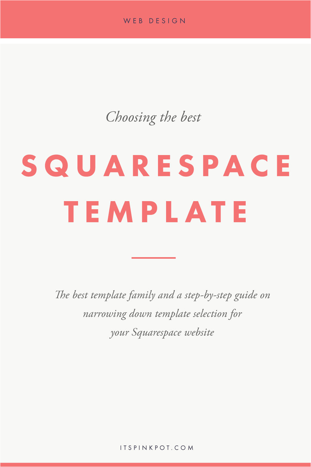 Best Squarespace Template for Video Blog Pinkpot Studio