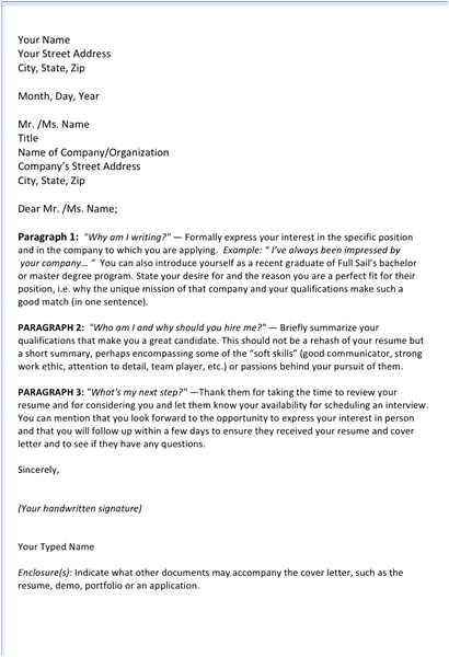 addressing cover letters
