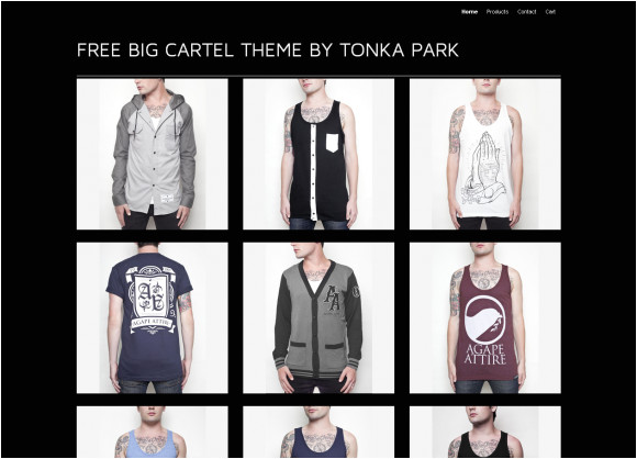 free big cartel theme