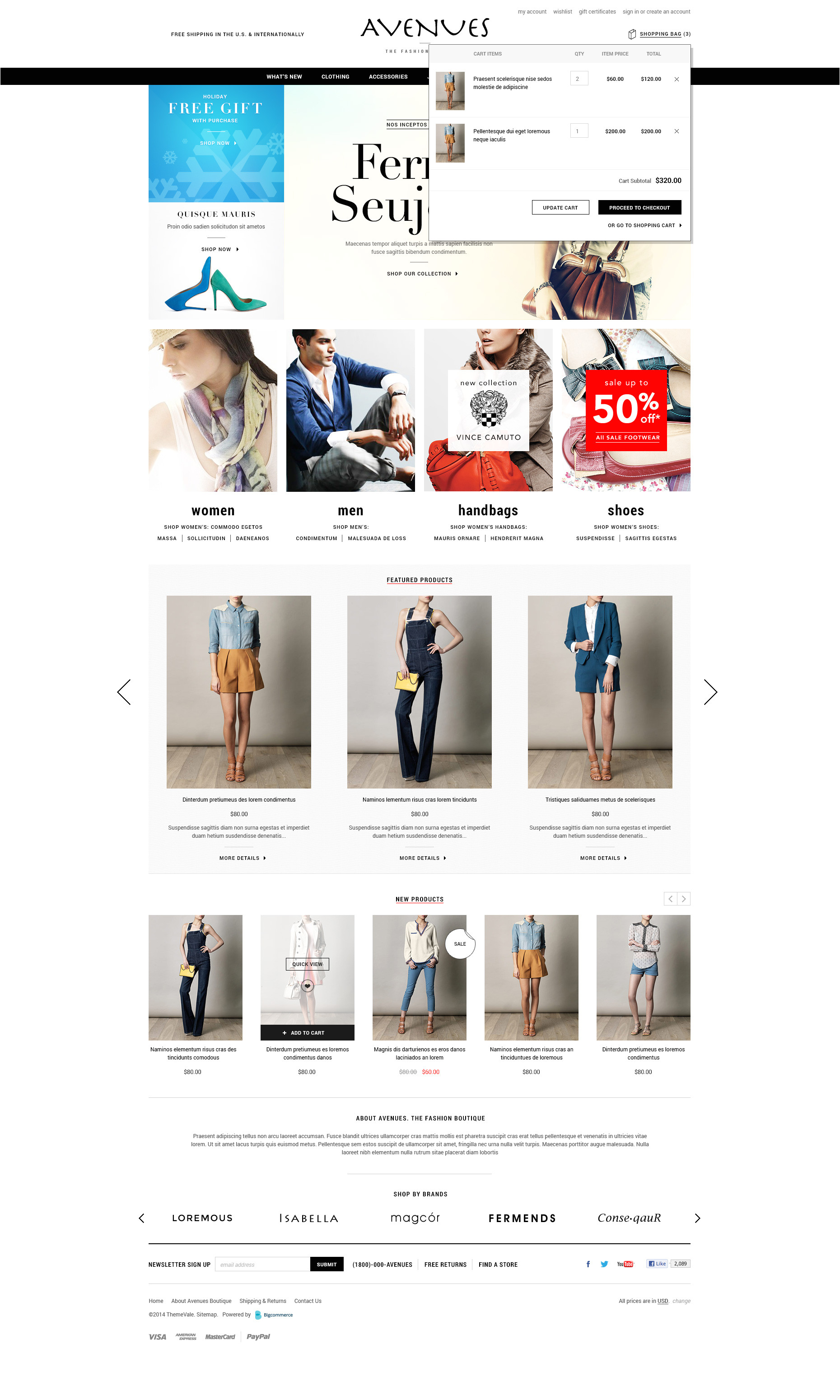 avenues premium responsive bigcommerce template