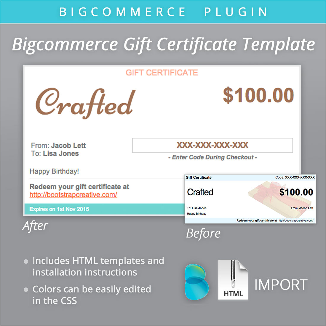 Big Commerce Templates Bigcommerce Gift Certificate Email Email Templates On