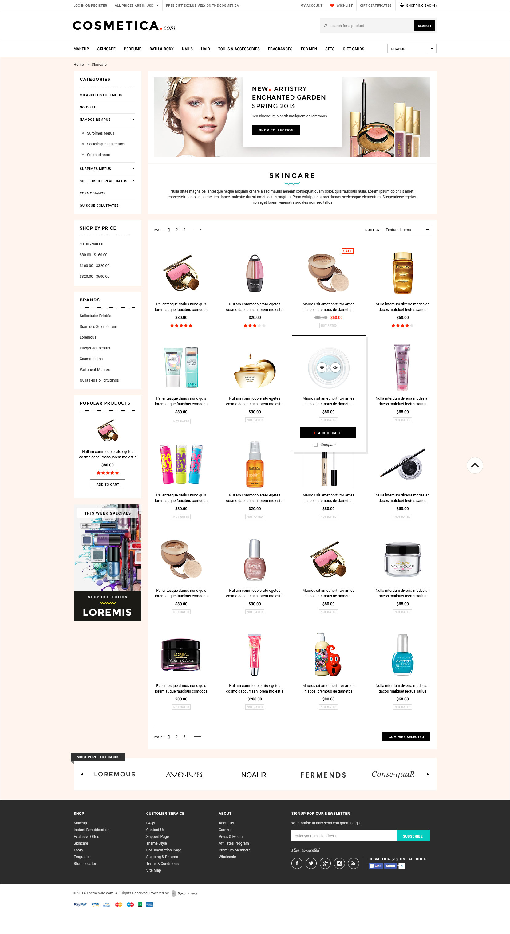 Big Commerce Templates Cosmetica Premium Responsive Bigcommerce Template