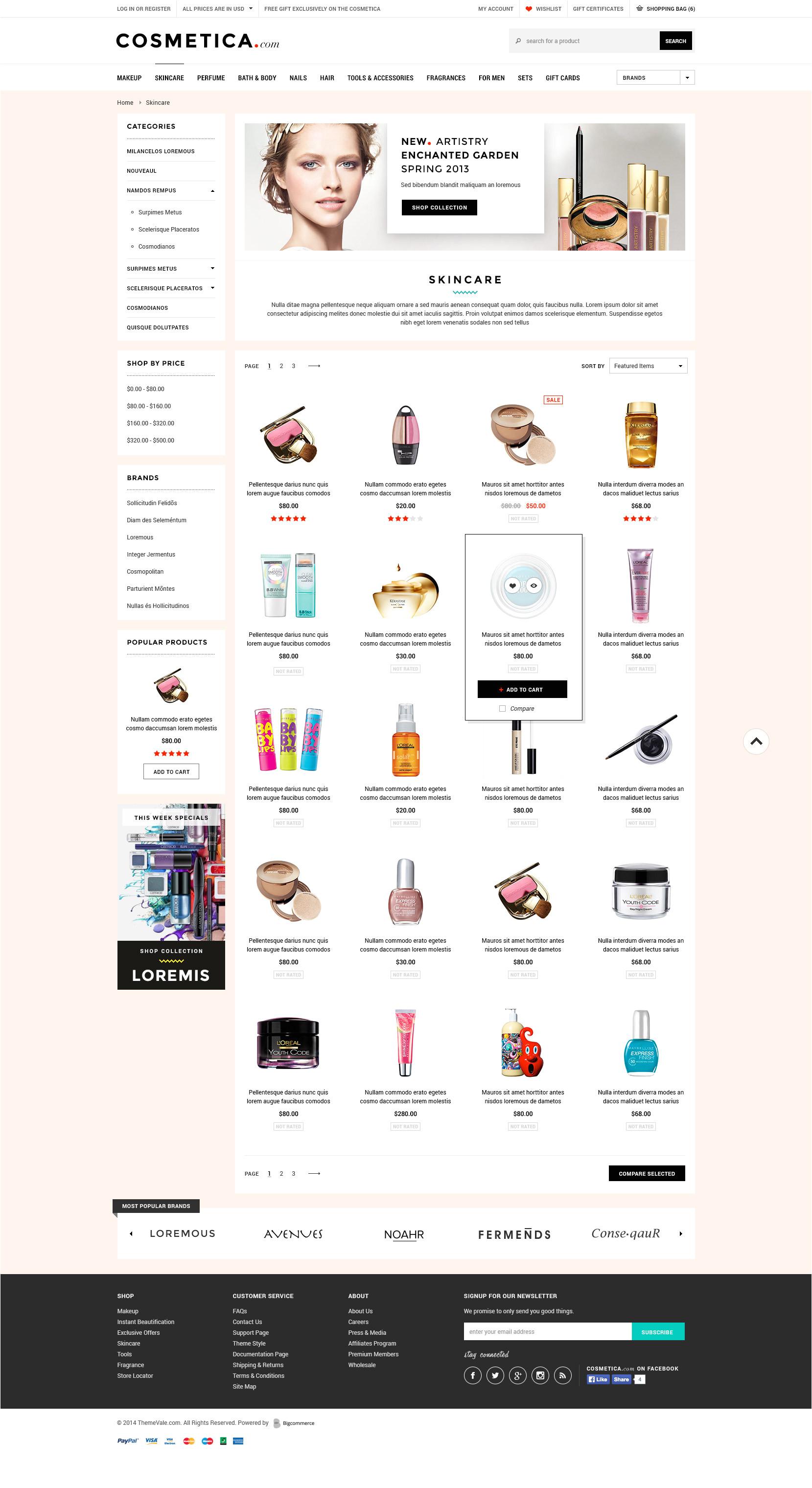 cosmetica premium responsive bigcommerce template