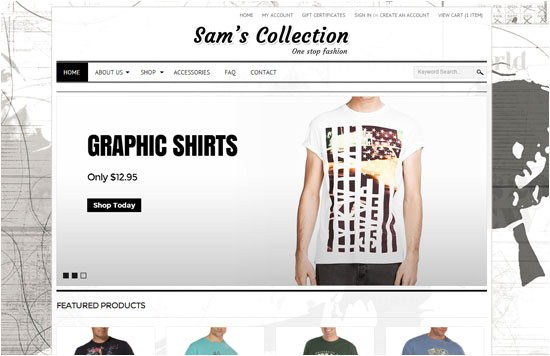 responsive bigcommerce fashion template design by psdcenter