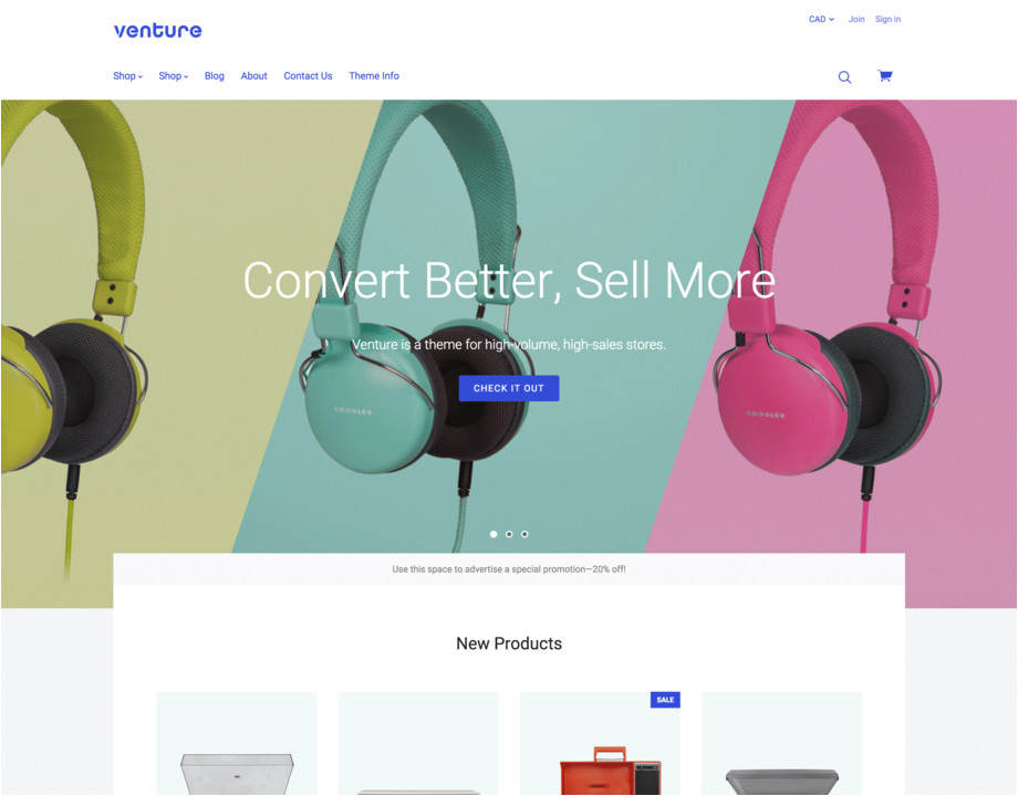 bigcommerce template chooser