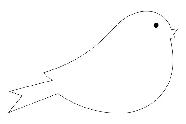 printable bird template