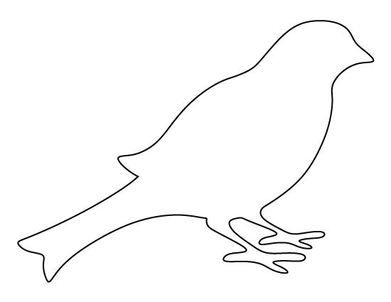 bird template printable