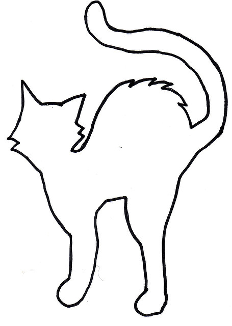 Black Cat Templates for Halloween Best Photos Of Cat Template Printable Halloween Cat