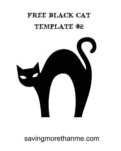 free printable halloween cat stencils