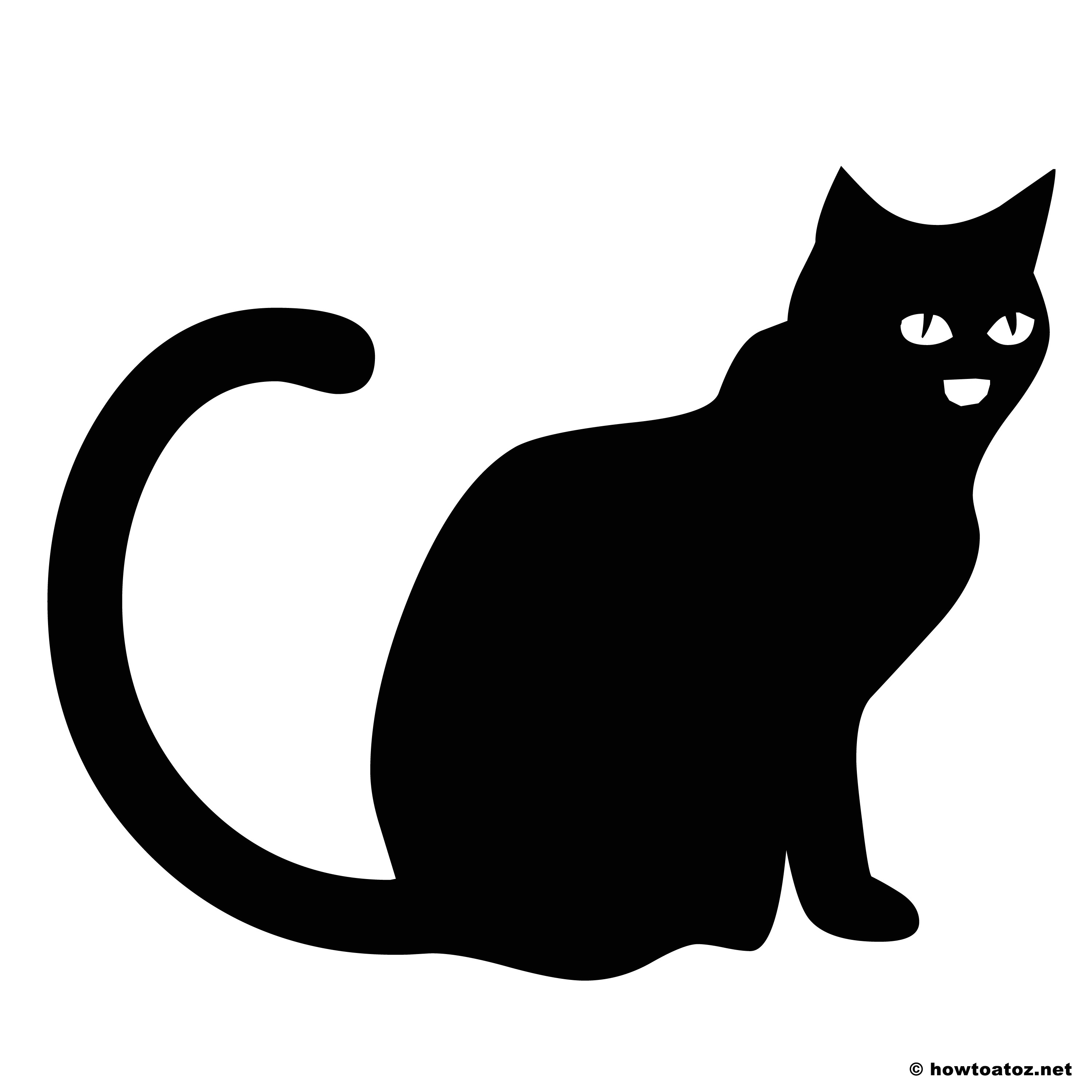 Black Cat Templates for Halloween Halloween Decoration Stencils and Templates Vol 2 How to