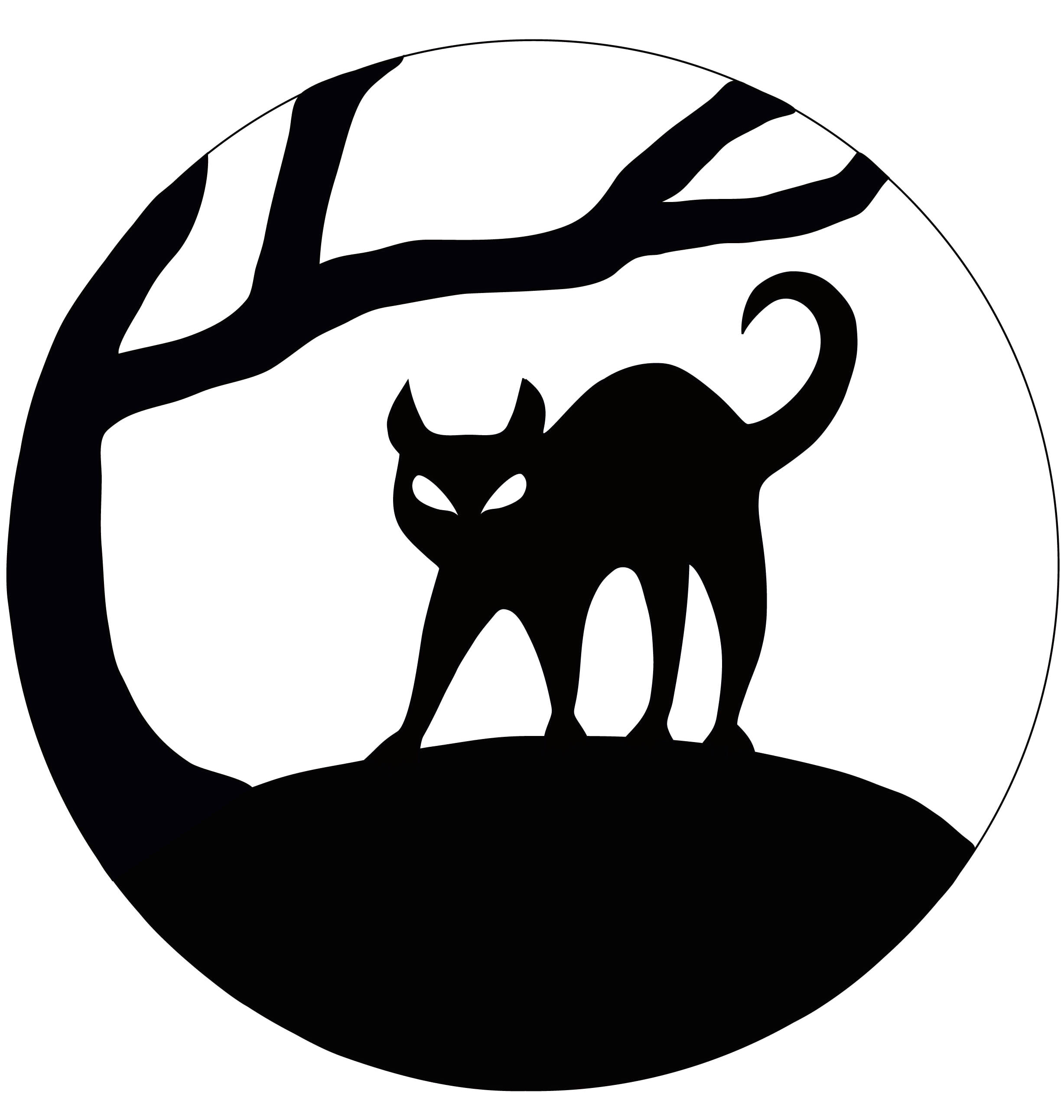 Black Cat Templates for Halloween Interactive Image Of Accessories for Halloween Decoration