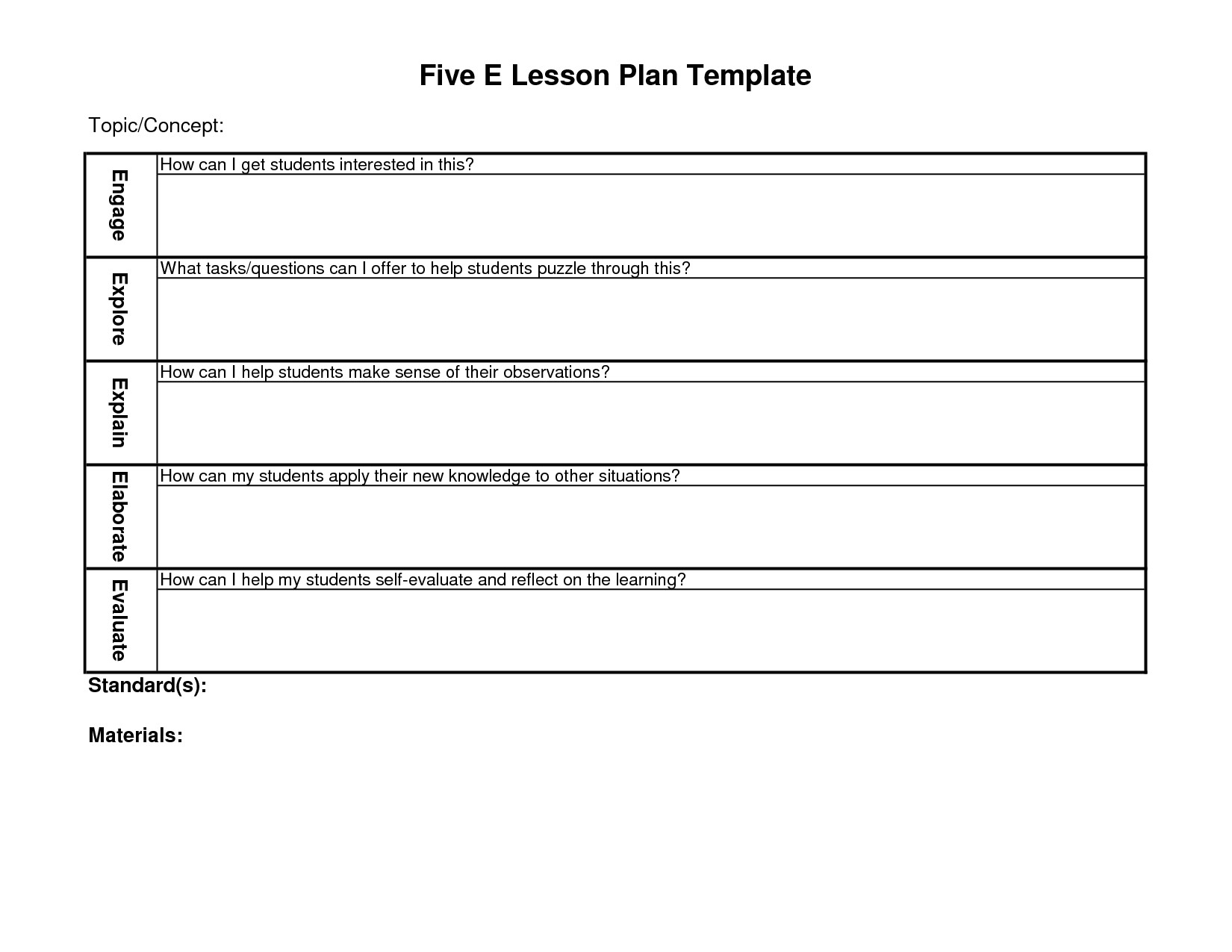 Blank 5 E Lesson Plan Template 5 E Lesson Plan Google Search Nt 39 Uti Pinterest