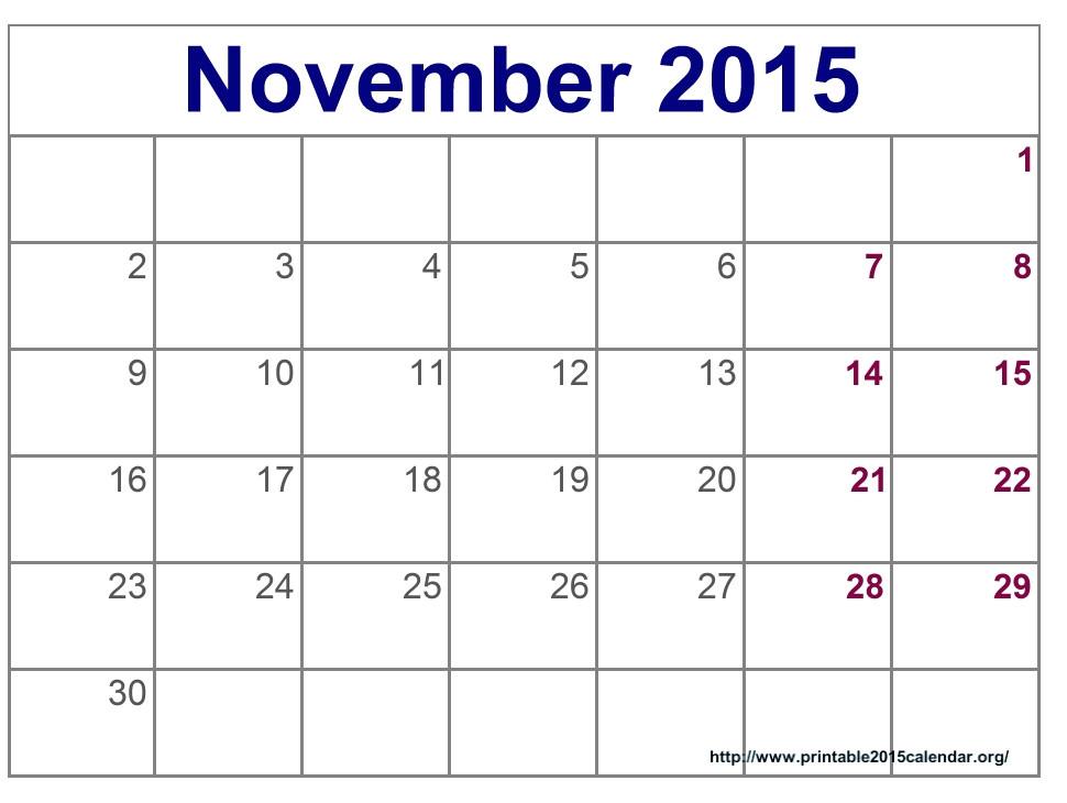 post blank november 2015 calendar printable 67409
