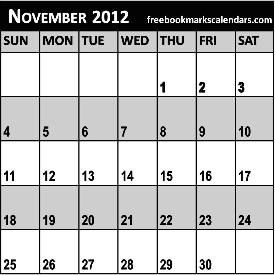 november 2013 calendar printable and templates