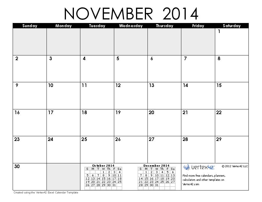 Blank Calendar Template November 2014 November 2014 Calendar Yangah solen