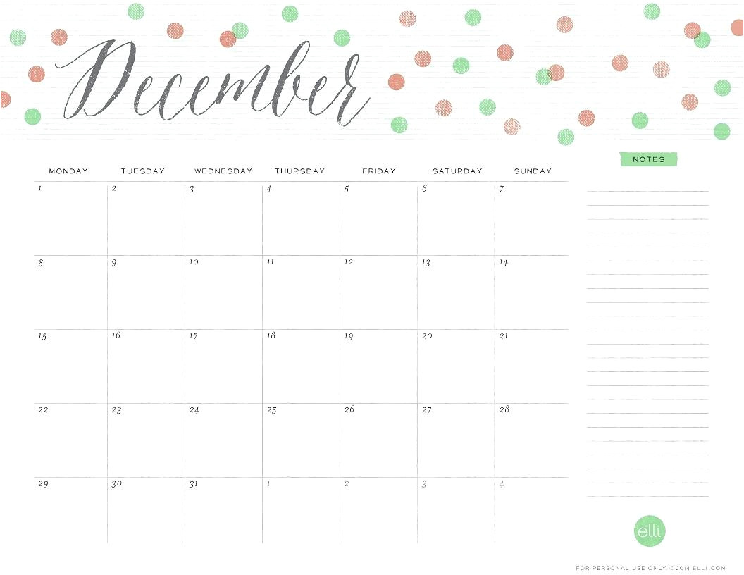 Blank December 2014 Calendar Template Blank December 2014 Calendar Template
