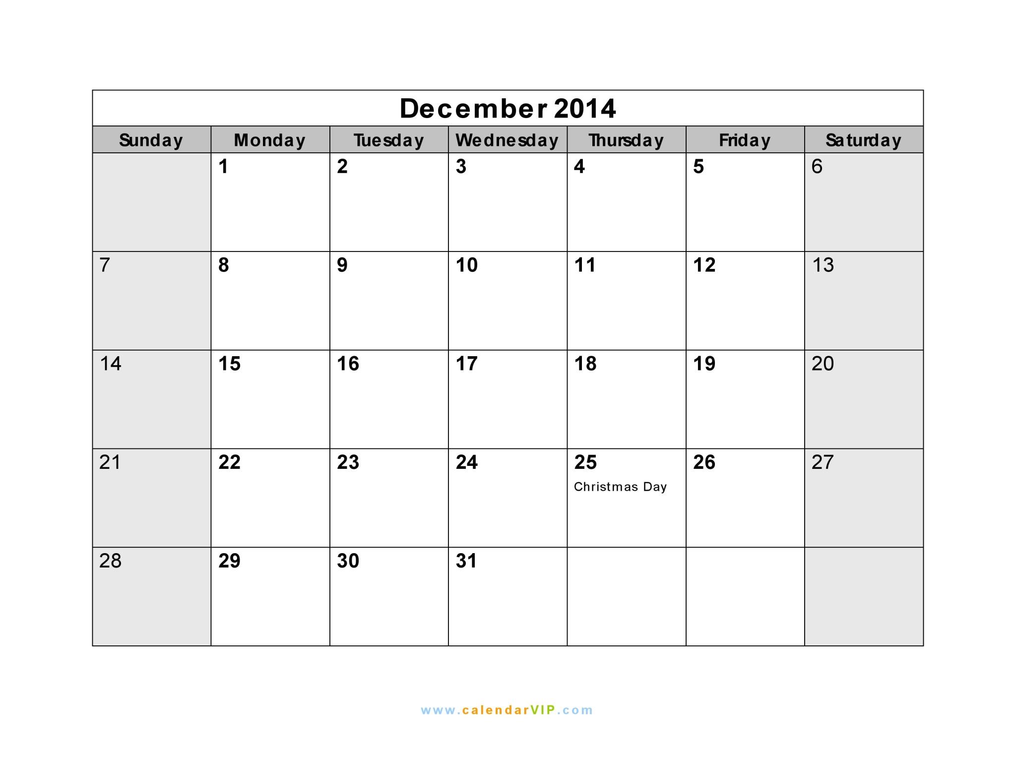 Blank December 2014 Calendar Template Calendar Dec 2014 Driverlayer Search Engine