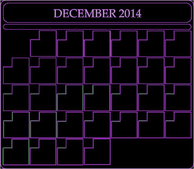 december 2014 calendar printable blank