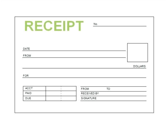 blank receipt template word printable blank hotel bill format in word download