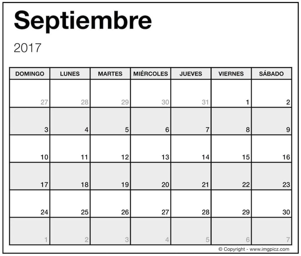 calendar templates in spanish