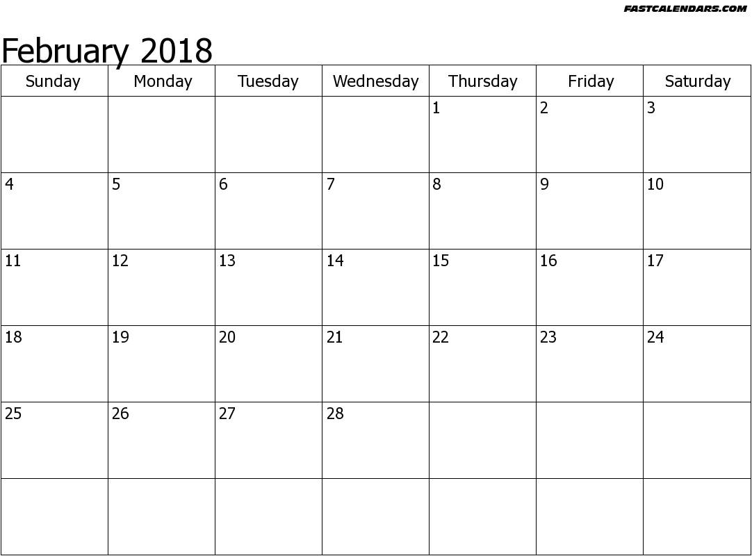 february spanish calendar