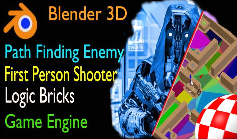 blender first person shooter template