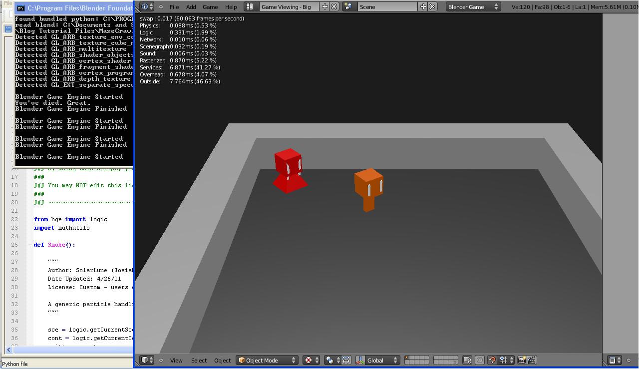 using python in blender game engine