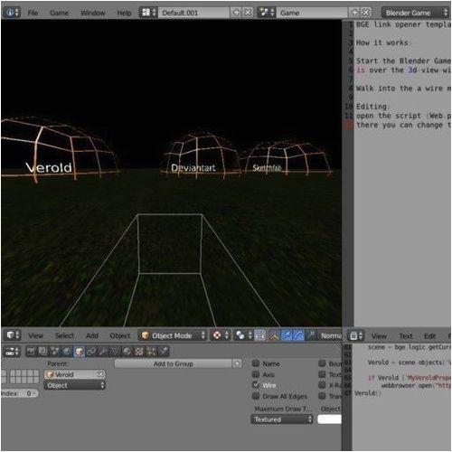 weblink opener template blender game engine