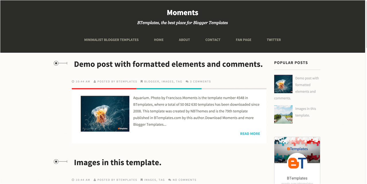 changing the look of your blogger site using templates