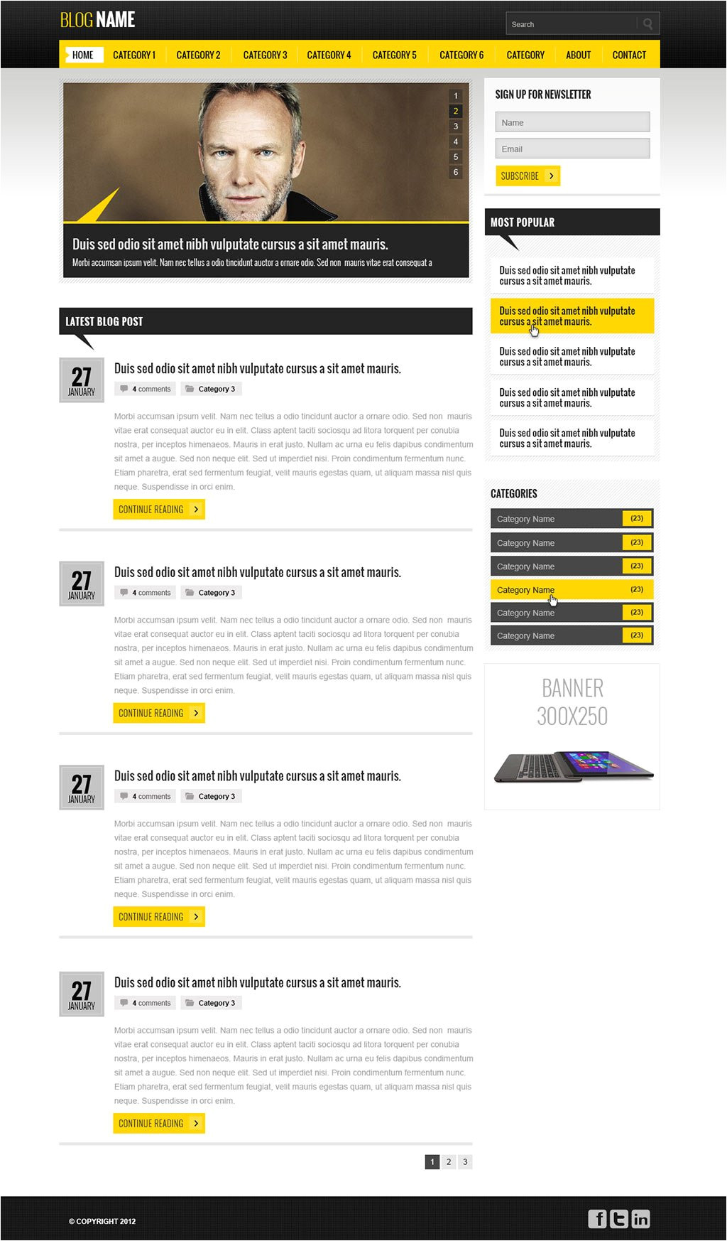 Blogsite Templates Free Blog Website Template Blog Templates PHPjabbers