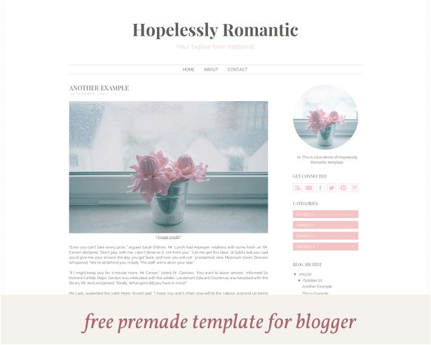 Blogspot Templates HTML 23 Best Images About Blog Template On Pinterest Feminine