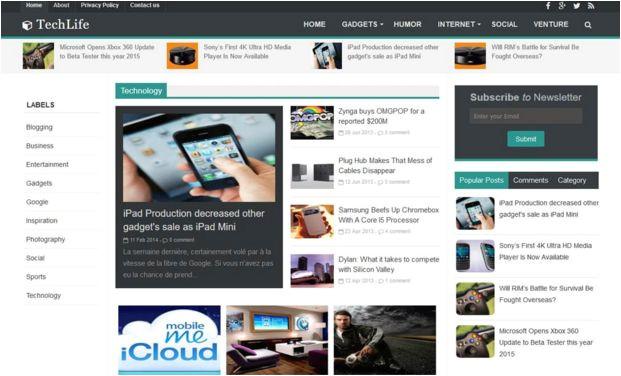 template blogger terbaik gratis dan responsive