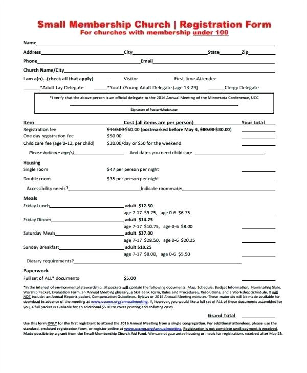 membership application form template download