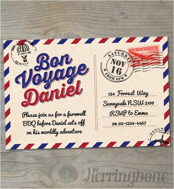 Bon Voyage Invitation Templates Free Items Similar to Bon Voyage Farewell Printable Invitation