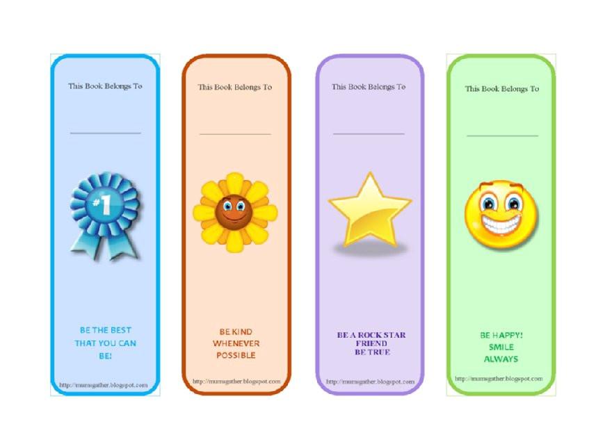 bookmark templates