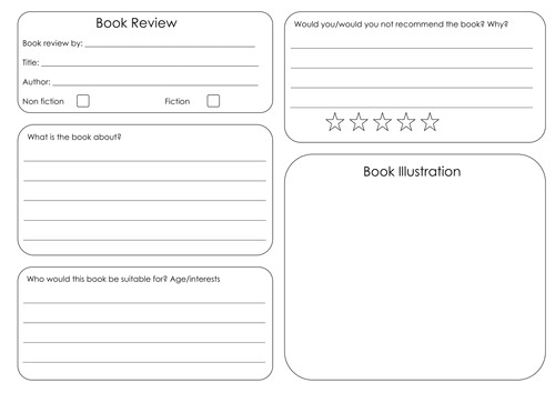 book review template 6295643