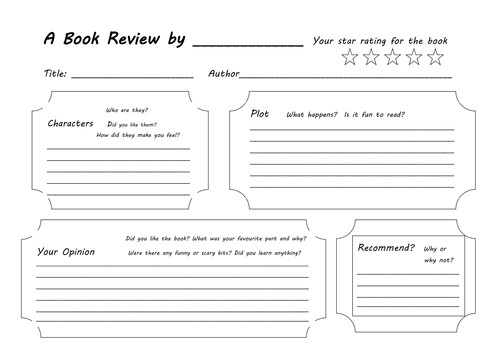 book review template 6166237