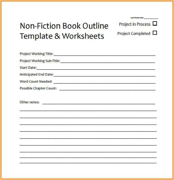 free book writing template