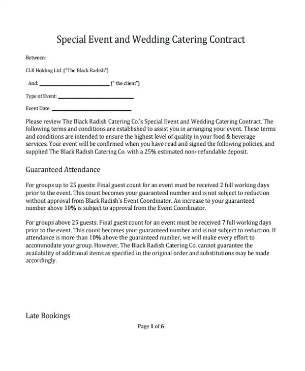booking terms and conditions template