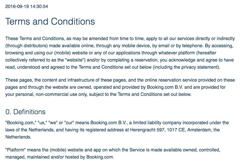 Booking Terms and Conditions Template Sample Terms and Conditions Template Termsfeed