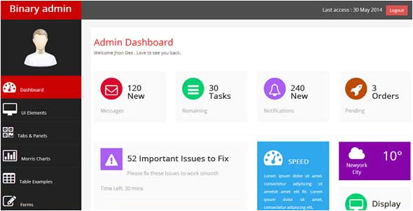 Bootrap Template 15 Best Free Responsive Admin Dashboard Templates